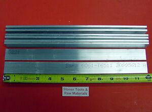 "8 Pieces 3/16"" X 1"" ALUMINUM 6061 FLAT BAR 12"" long New Mill Stock .187"" T6511"