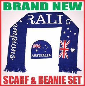 ANZAC-day-AUSTRALIA-flag-supporter-knitted-scarf-amp-beanie-hat-set-gift-souvenir