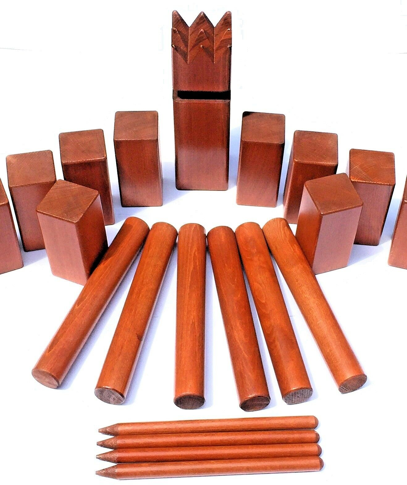 Tournament  Kubb Yard Game Set Mahogany Finish 19.8 LBS. Solid Hardwood Kubbspel  for your style of play at the cheapest prices