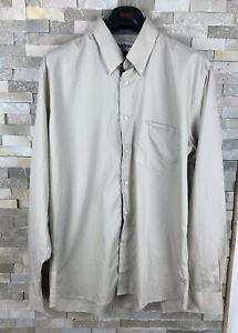 Barbour-Mens-Size-L-Regular-Fit-Beige-Long-Sleeve-Shirt