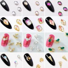 New Chic 10Pcs 3D Nail Art Glitter Decorations Colorful Crystal Alloy Rhinestone