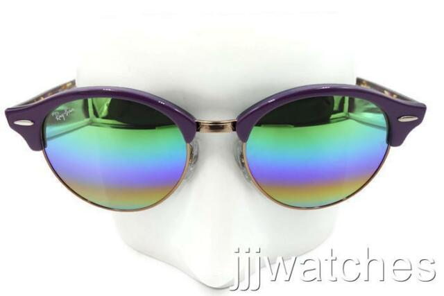 d62bd82650 Ray-Ban Rb4246 Violet Frame Green Rainbow Flash 51mm Lens Sunglasses ...
