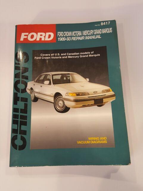 1989  Mercury Grand Marquis Chiltons Manual