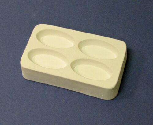 Casting for Large Ovals Jewelry Mold for Fusing Glass Frit