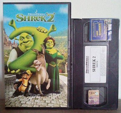 Vhs Film Cartoni Animati Shrek 2 Dreamworks 748301477d01 Ex Nolo No Dvd Cd V61 Ebay