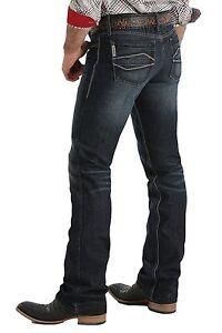 cd440eac CINCH Men's IAN Western Slim Fit Boot Cut Dark Wash Denim Jeans ...