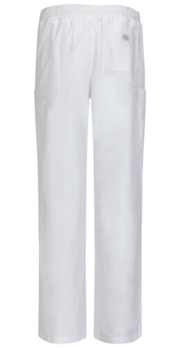 Scrubs Dickies Men/'s Zip Fly Pull-On Pant 81111A WHWZ White Free Shipping