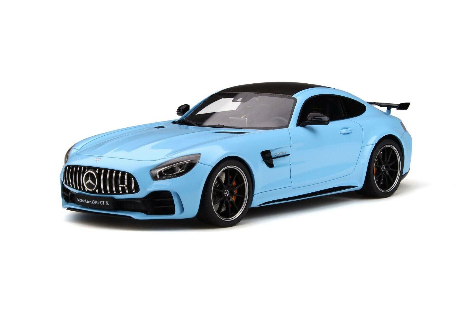 Mercedes AMG GT-R 2018 blu 1 18 resin GT-Spirit gt787 nuevo & OVP