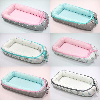 Kuschelnest Babybett Bettkopfschutz Nestchen Babynest Stillkissen Reisebett Neu