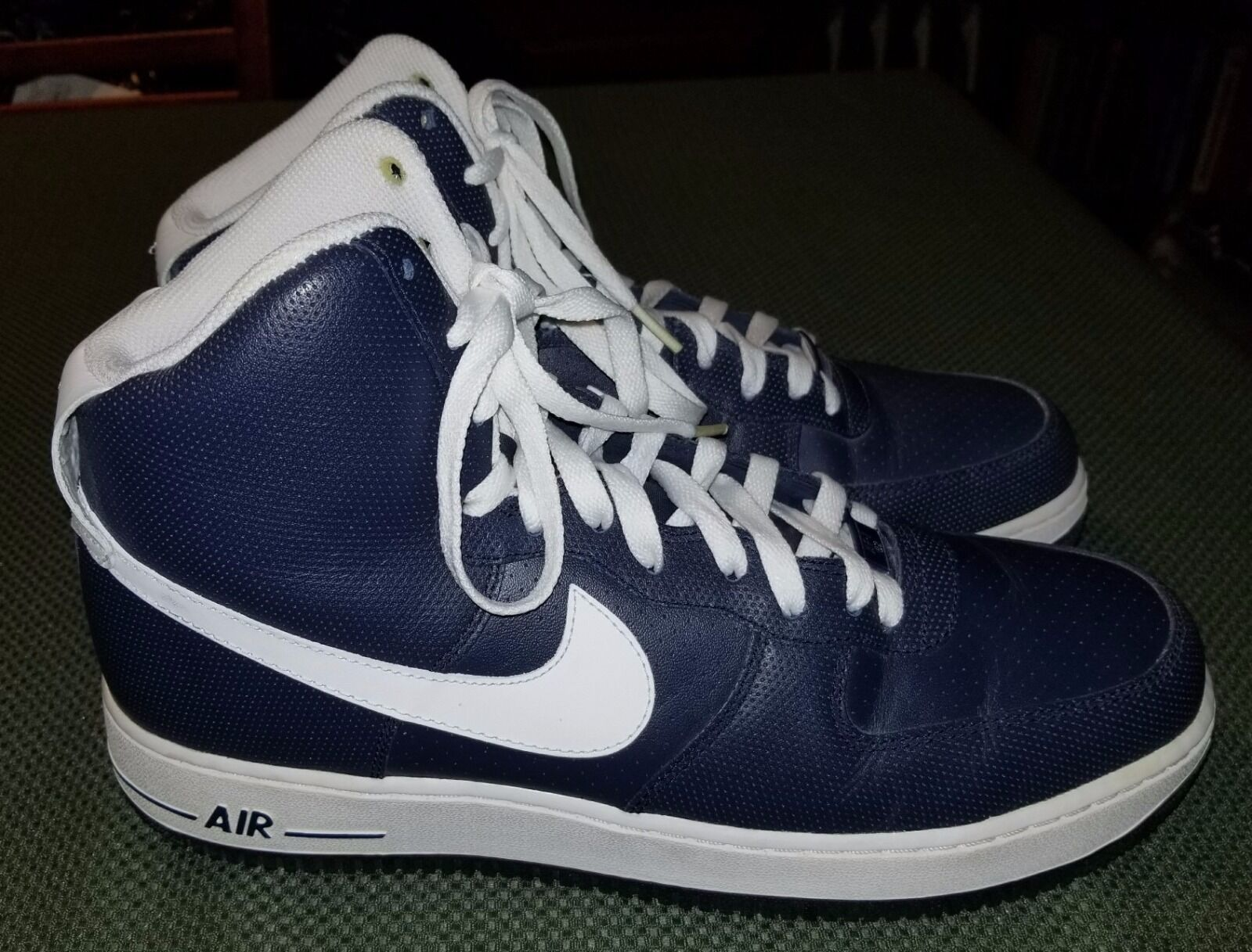 Nike Air Force 1 Mid Midnight Navy/White Size Men US 11 Sneakers Shoes