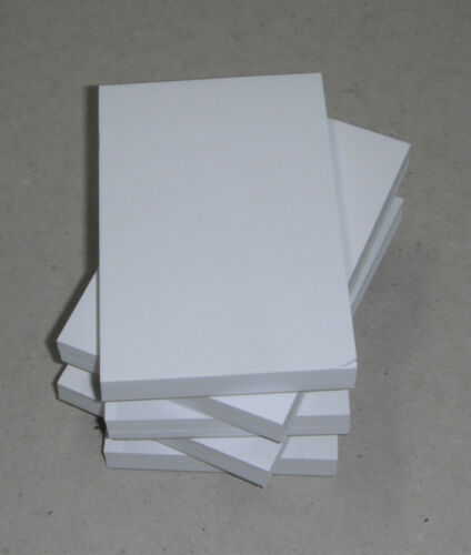 80gsm paper. 100 x Plain White A6 Jotter Pads