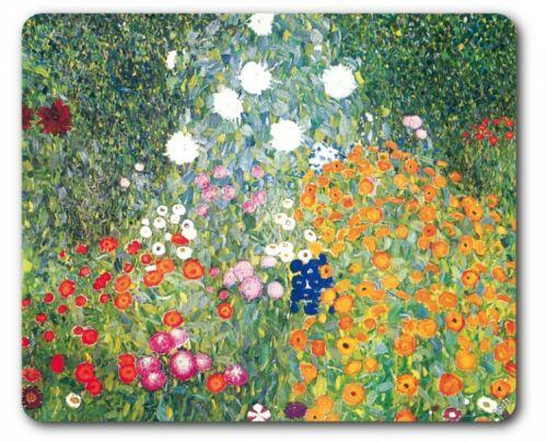 Gustav Klimt 23x19cm #89362 Blumengarten Mauspad Mousepad