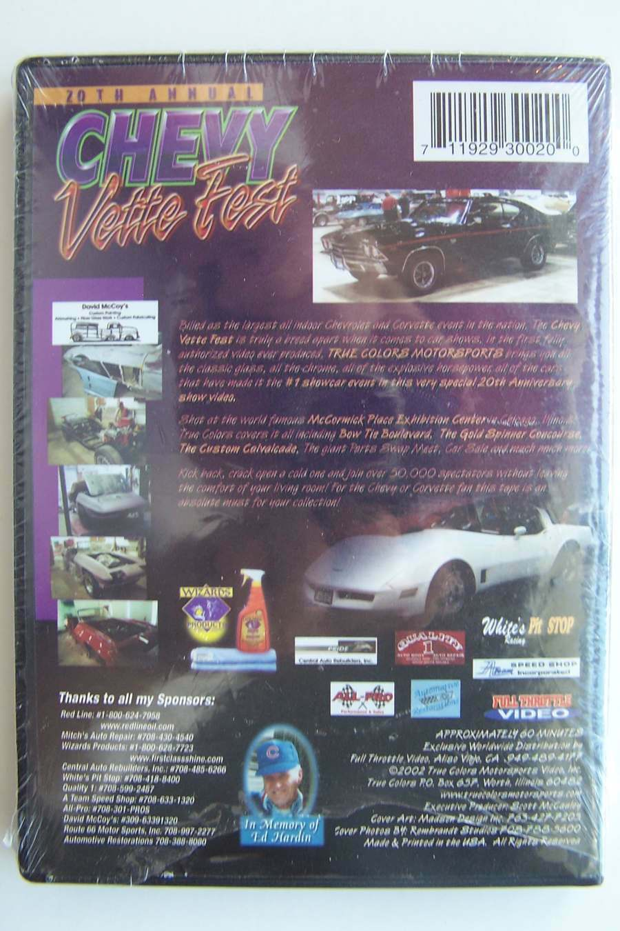 20th Annual Chevy Vette Fest DVD New & Sealed