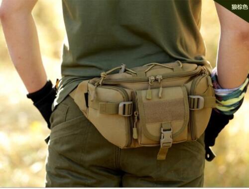 Men/'s Military Cycling Waist Fanny Pack Bum Belt Bag Pouch Travel Hip Purse