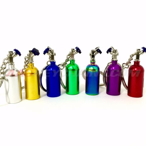 NOS Mini Nitrous Oxide Bottle Nitrous Keyring Keychain Multiple Colors Stash Box