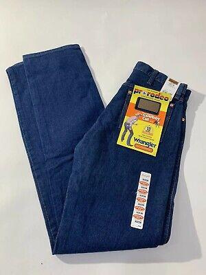Mens Wrangler Pro Rodeo Cowboy Cut Jeans Dark Wash Stiff Heavyweight