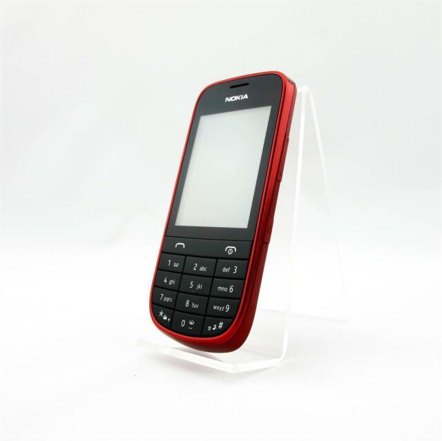 Nokia Asha 203 - Dunkelrot (Ohne Simlock) Handy