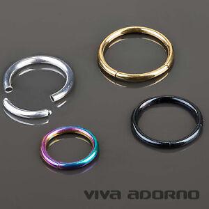 1-2 Jusqu'à 3mm Segment Anneau Piercing Intime de Septum 3 Couleurs Universelles qWcryBc4-09103517-429928237