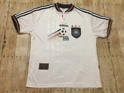 Germany Adidas Retro Jersey Vtg 1996 Shirt Football Soccer WM2006 RARE White XL | eBay