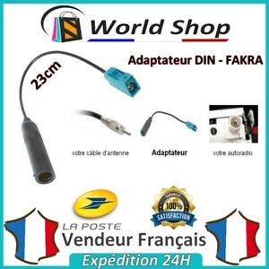 Cable-Adaptateur-Antenne-Femelle-DIN-FAKRA-FAKRA-male-male-fm-voiture