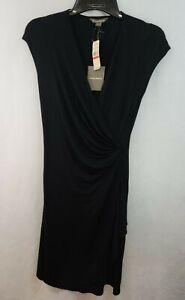Tommy Bahama Black Tambour Cascade Wrap Summer dress XS size 2 NWT