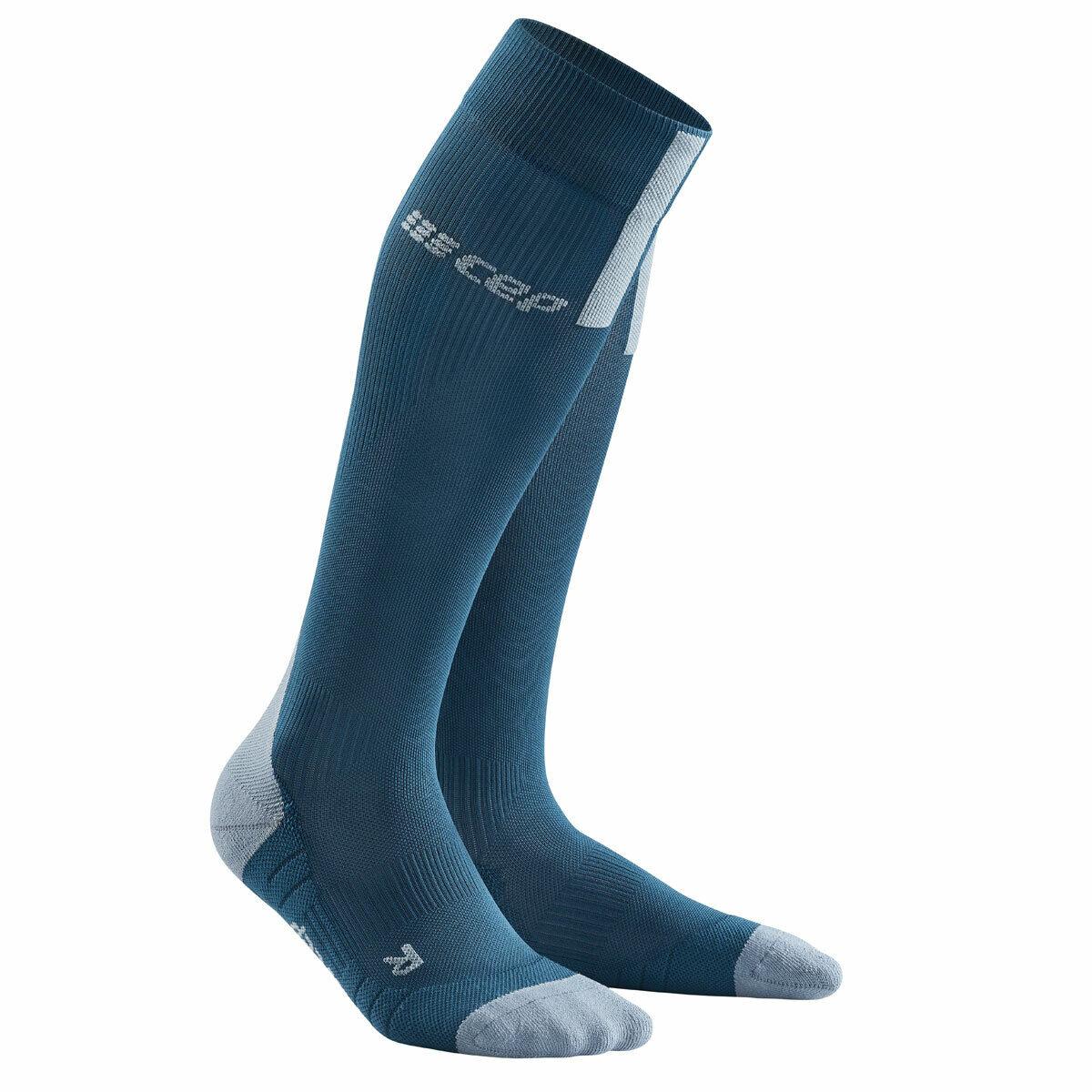 Cep run compression socks 3.0 Men azul gris   wp50dx   compresión