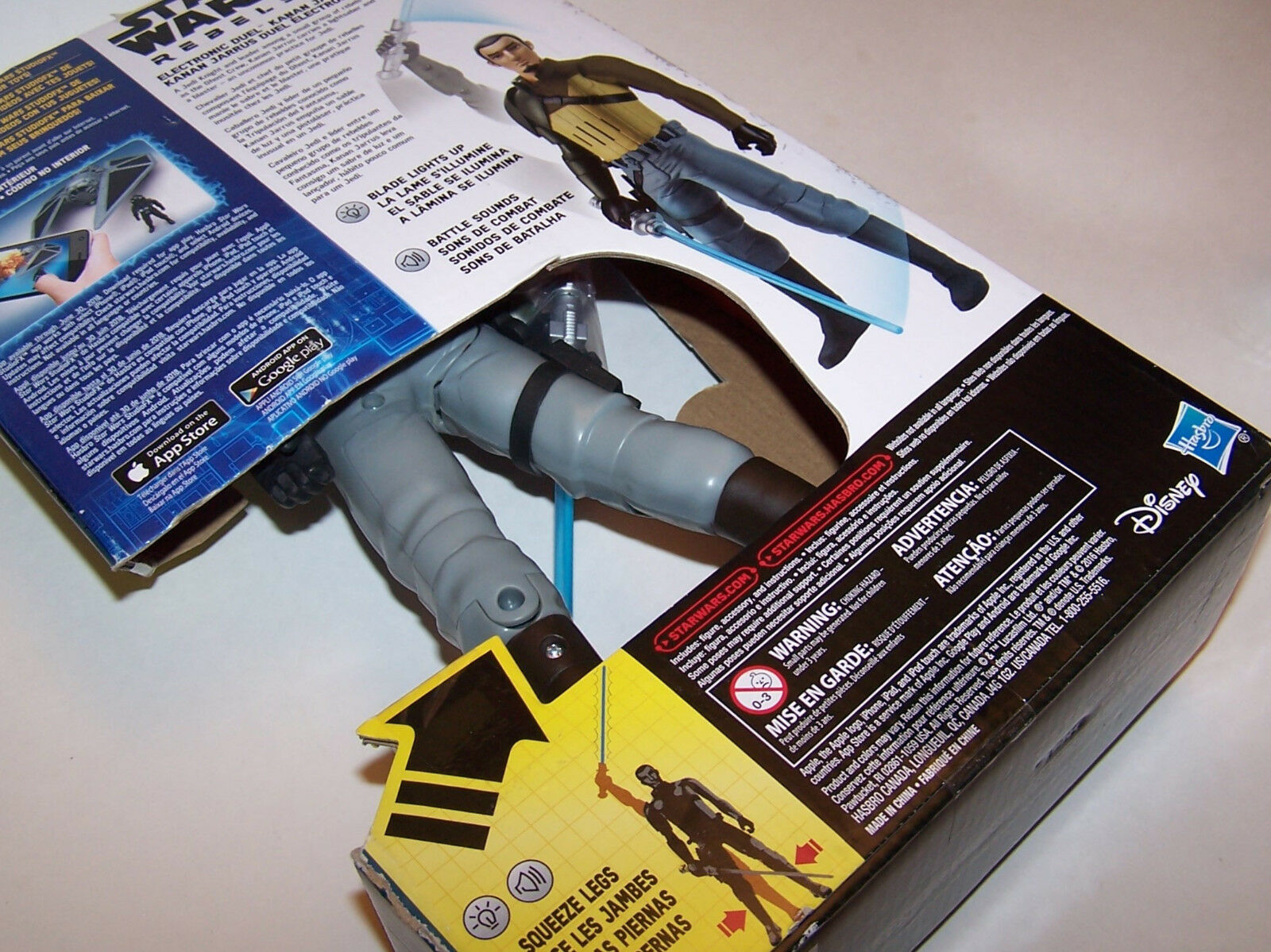 Brand New New New  Star Wars Rebels Electronic Duel Kanan Jarrus 12  Action Figure 192ed5
