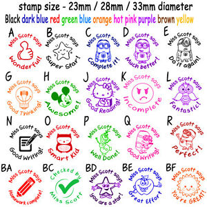 Image Is Loading Custom Name Rubber Stamp Self Inking School Teacher