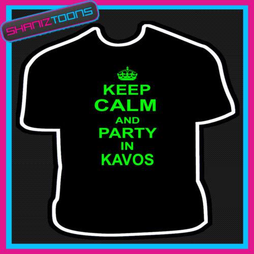 Restez calme et partie de Kavos Vacances CLUBBING NEUF