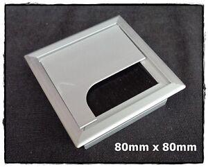 Aluminum Square Cable Computer Desk Bench Outlet Grommet ...