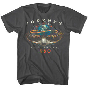 Journey-Departures-Album-Tour-1980-Men-039-s-T-Shirt-Rock-Band-Vintage-Concert-Merch