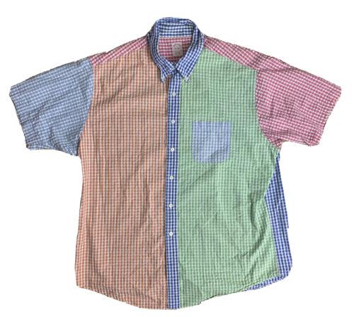 Brooks Brothers Regent Mens Size XL Patchwork Pink