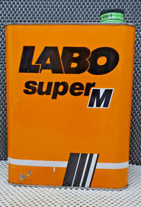 Antique Work Tool Oil Can Empty Lab Super M.2 Litres Decoration Garage Loft