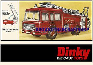 Dinky-Toys-266-ERF-Bomberos-Grande-A3-tamano-poster-ANUNCIO-FOLLETO-signo-de-pantalla