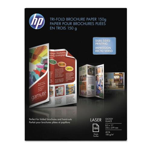 Hp Tri-Fold Laser Brochure Paper 97 Brightness 40lb 8-1//2 x 11 White 150 //Pack