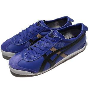 online store 96756 a4b47 Details about Asics Onitsuka Tiger Mexico 66 Blue Blue Leather Men Shoes  Sneakers D4J2L-4590