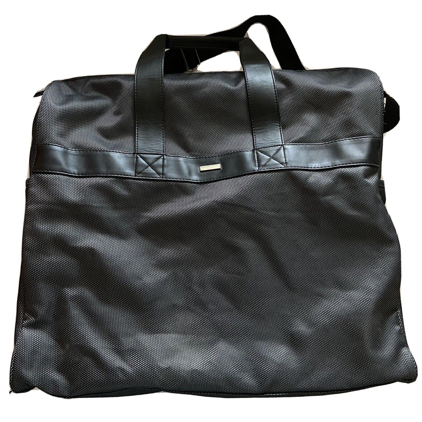 Giorgio Armani Parfums Bag Tote Overnight Woven Gray Travel Shoulder Strap