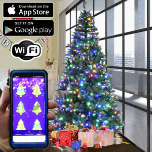 Christmas Tree RGB LED Lights 100pc WiFi App Enabled Color ...