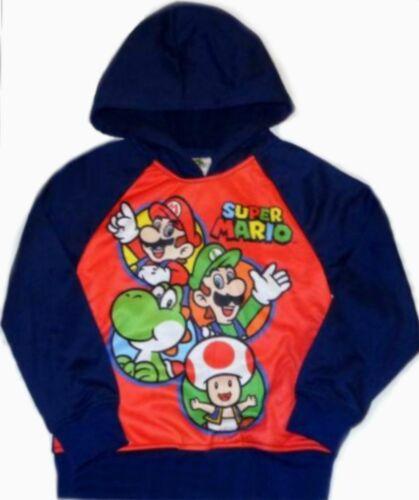 Super Mario Pullover Hoodie Size 6 7 8 10 Child Sweatshirt New Luigi Yoshi S M