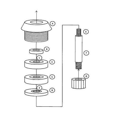 Universal Repair Kit for Vitamix Advance Ice Wet /& Dry blade assemblies XP