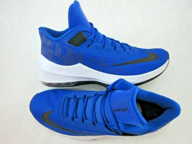 Nike Mens Air Max Infuriate 2 Mid Basketball Shoes Royal Blue White Size 11.5