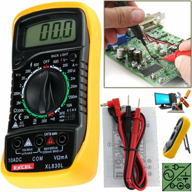 LCD Digital Multimètre circuit de courant Testeur Buzzer Ampèremètre Voltmètre AC DC Ohm