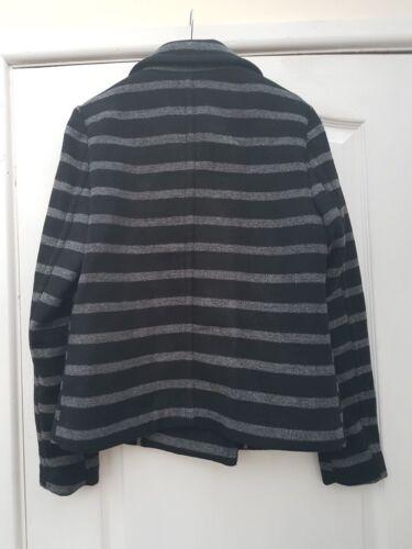 doppio petto 10 righe a colletto Cappotto a Successivo misto elegante Reefer lana con grigio scuro wx64tnBI