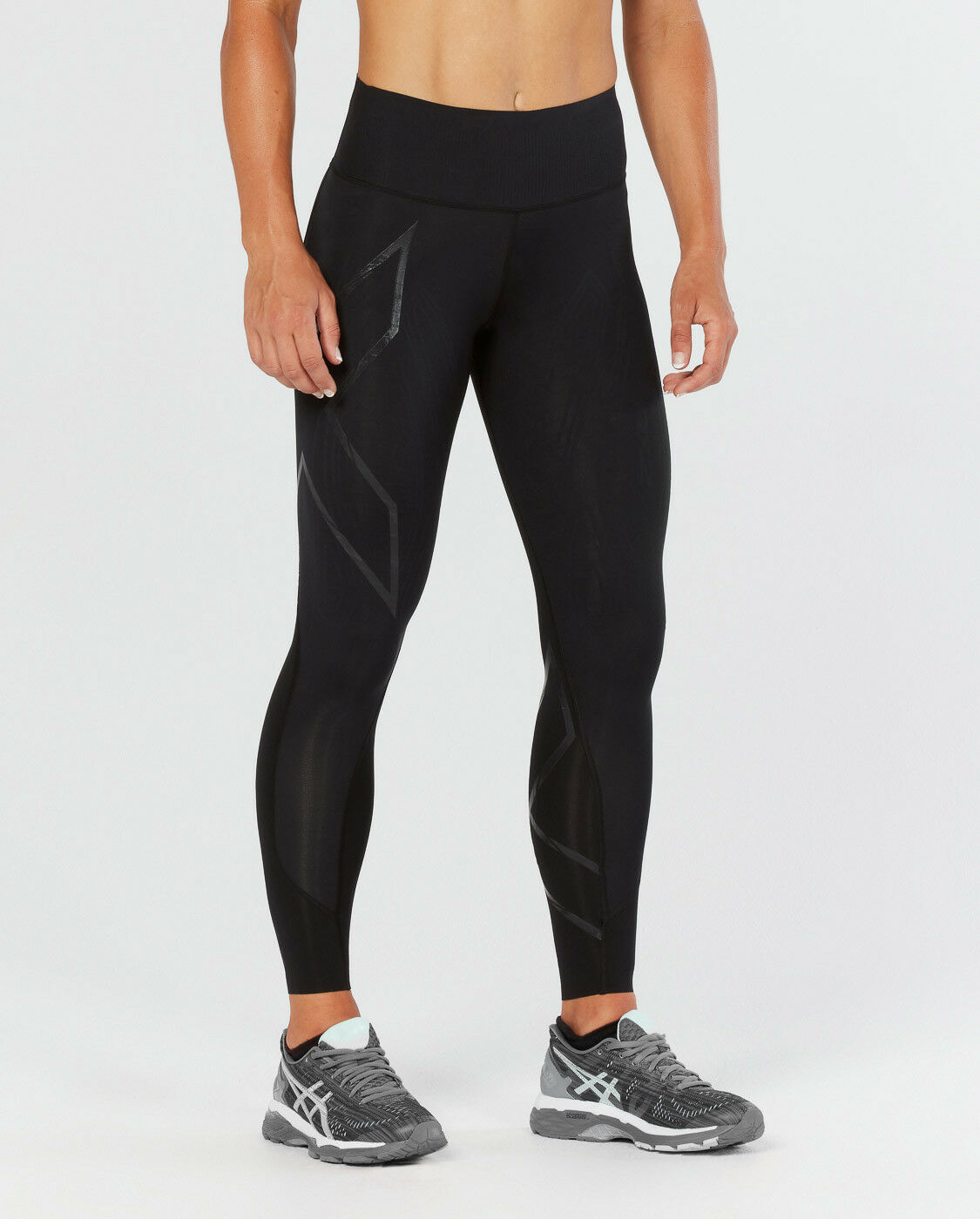 nouveau 2XU femmes MCS Bonded Mid-Rise Compression Tights High Waist ALL TailleS