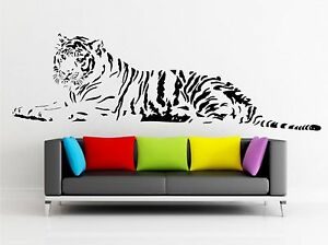 TIGER-WALL-ART-QUOTE-DECAL-sticker-home-FAMILY-MURAL-graphic-ZOO-ANIMAL-transfer