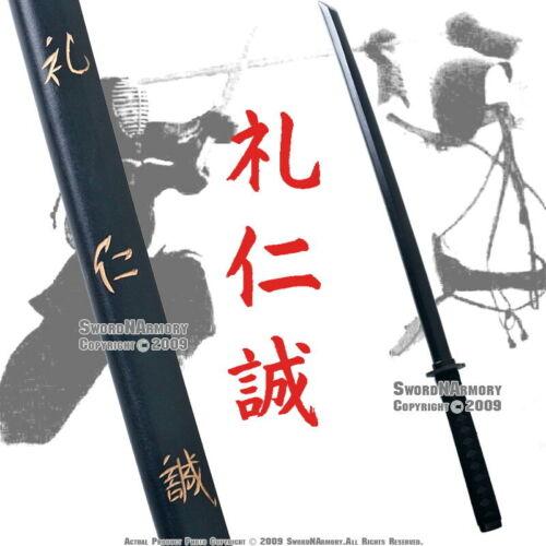 """39/""""  Wooden Kendo Practice Bokken Stick Katana Sword w//Handle Wrap Duty Engraved"""