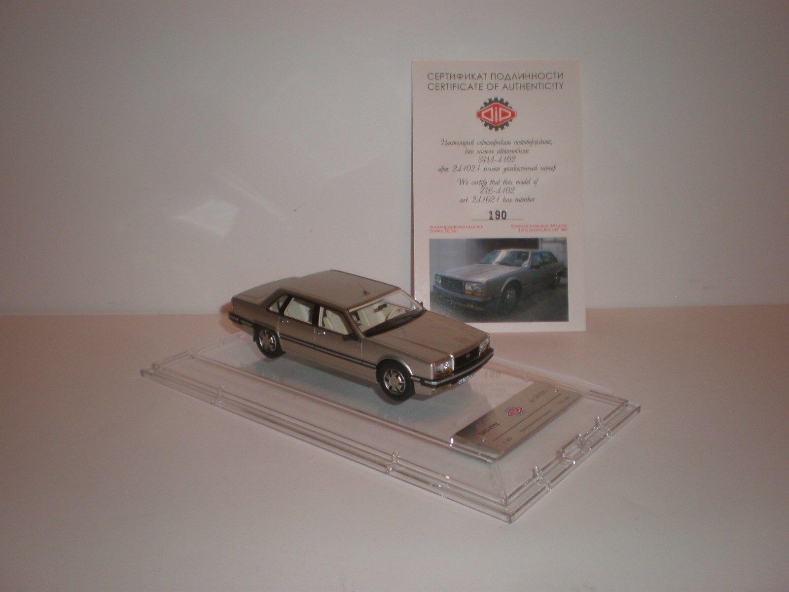 1 43 Modelos Dip ruso limusina ZIL-4102 1988 edición limitada de 252 piezas de champán.