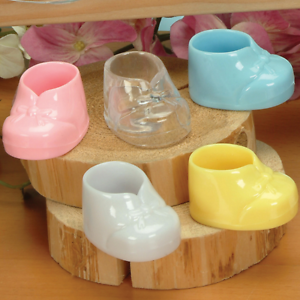 Small-1-7-8-034-Plastic-Baby-Booties-Shoes-Pack-of-6-Party-Favor-Choose-Color