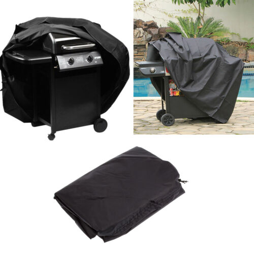 Outdoor Black Waterproof BBQ Cover for Barbecue Grill 4-6 Burner Anti Dust Large