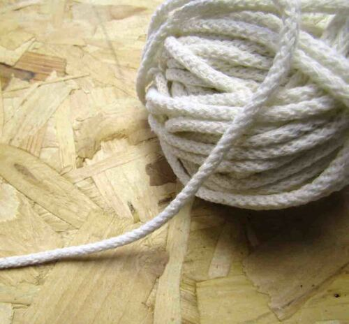 Cotton Rope Sash Cord Twine Natural Braided Cord 3sizes Cotton Craft Rope String